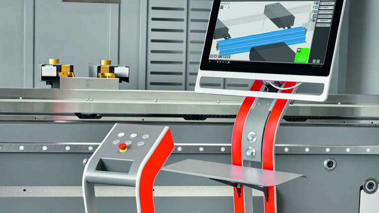 Simple operation using a touch screen and ByVision Bending: Load the bending plan, set up the machine, and start bending.